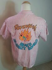 Vintage 80's Striped Ocean Pacific Surf Camp Shirt Polo 1987 M