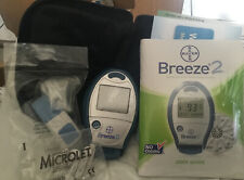 New Bayer Ascensia Breeze 2 Blood Glucose Meter System with Travel Case No Box.