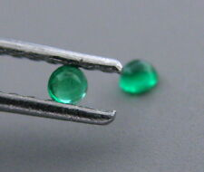 2.8mm ROUND MATCHING PAIR CABOCHON NATURAL UNTREATED COLOMBIAN EMERALD