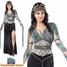MYTHICAL MEDIEVAL MEDUSA LEGEND - Size 10-14 - womens ladies fancy dress costume
