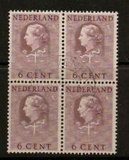 NETHERLANDS SGJ24 1951 6c MAUVE BLOCK OF 4 FINE USED