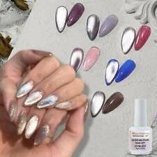 15Ml Cat Eye Gel Nail Polish Silver Snowlight Gel Soak Off Uv Manicure Nail  @wr