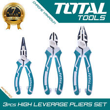 3PCS HIGH LEVERAGE PLIERS Soft Grip Heavy Duty Hand Tools Set - Total Tools