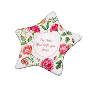 "Sublimation Star Christmas Decoration 3"" Blank Ceramic Hanging (STAR)"
