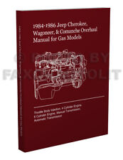 1984 1985 1986 jeep cherokee wagoneer overhaul manual