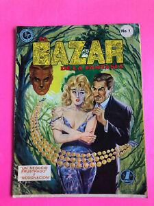 Mexican vintage Comic El Bazar de la Fantasia  No. 1  May 3rd 1966