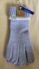 Joules BNWT Ladies Pale Blue Lambswool Gloves