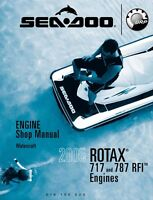 Sea-Doo 2005 ROTAX 717 and 787 Engine Shop Repair Manual 219100222 Free Shipping