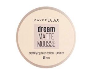 Maybelline Foundation Dream Matte Mousse + Primer Foundation Ivory 10 - Genuine