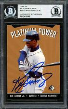 Ken Griffey Jr. Autographed 1995 Sp Platinum Power Card Pp-12 Beckett 12410148