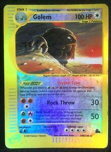 Pokemon Crystal Golem Skyridge Reverse Holo 148/144 PL