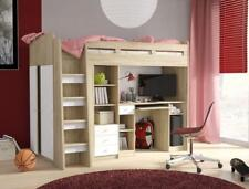 Brand New Modern Cabin Bunk Bed UNIT with Wardrobe and Desk in Sonoma Oak/White