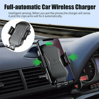 a64b24a56673ee Wireless Car Charger A/C Vent Clip Mount For Samsung S10 S9 iPhone X XS