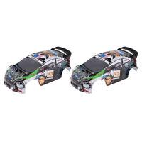 2pcs RC Body Shell Bodywork for WLtoys K989 1/28 Rally Car Upgrade Part