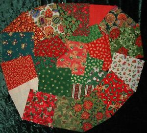 Christmas cotton fabric charm squares all different 5ins