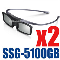 2PC Samsung 4K HD UHD SUHD 3D Active TV Glasses SSG-5100GB SSG-5150GB