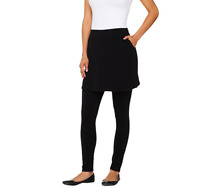 Legacy French Terry Ankle Length Skirted Leggings Color Black, Size XX-Small