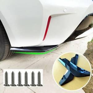 2x Universal Car Rear Bumper Lip Diffuser Splitter Canard Protector Spoiler