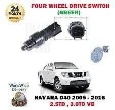 PARA NISSAN NAVARA D40 2.5TD 3.0TD 05-16 4WD FOUR RUEDA MOTRIZ INTERRUPTOR VERDE