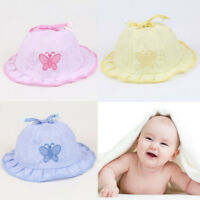 Cotton Summer  Style Caps Baby Butterfly Hats Cotton Baby Hats Infant Sun Hats