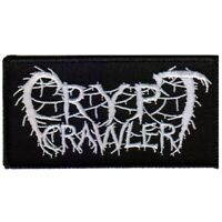 Crypt Crawler Logo Woven Patch Official Death Metal Band Merch
