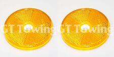 2 X Genuino Ifor Williams Remolque Naranja/Ámbar Redondo lado Reflector-P0691