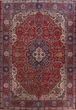Geometric Semi Antique Tebriz Traditional Area Rug Classic Oriental Wool 8'x12'