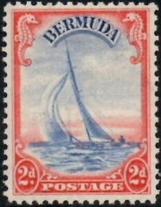 Bermuda 1940 KGVI 2d Ultramarine & Scarlet    SG.112a Mint (Hinged)