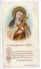 Vtg ST MARY MAGDALEN of PAZZI ReligiousCatholic Holy Card B. Kuhlen M. Gladbach