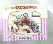 Japan Sylvanian Families VHTF Classical Living Room Funiture Set VERY RARE