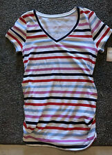Maternity Essential V - Neck Tee  top  size M  by a glow (Stripe)