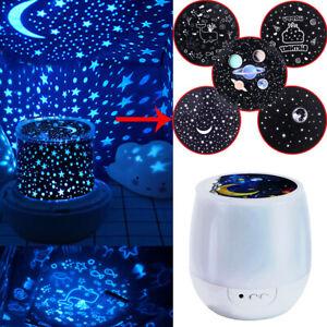 LED Night Light Projector Star Moon Sky Baby Kids Mood Lamp Christmas Gift Magic