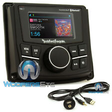 pkg ROCKFORD FOSGATE PMX-2 MARINE BOAT BLUETOOTH RECEIVER + USB AUX JACK CABLE