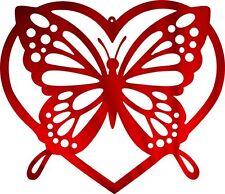 DXF CNC dxf for Plasma Router Clip Art Vector Butterfly Heart Plasmacam
