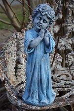 Concrete Garden Statue Sleepy Peaceful Blue Baby Toddler Boy Memorial