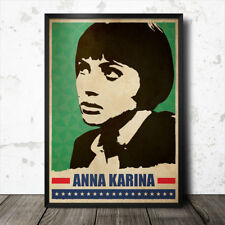 Anna Karina ART POSTER FILM CINEMA MOVIE JEAN LUC GODARD BRIGITTE BARDOT