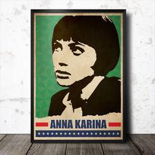 ANNA KARINA art poster film cinema movie jean luc godard brigitte bardot