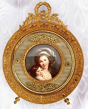 Antique French Bronze Picture Frame Empire Pattern