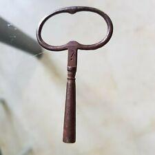 Ancienne Clé d'Horloge ou Pendule en acier N° 7