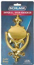 """Schlage Imperial, Bright Brass 11"""" H x 5.5"""" W, Finish Door Knocker, Sc2-3107-605"""
