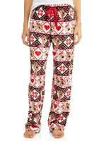 Womens Rudolph the Red Nosed Reindeer Christmas Holiday Fleece pajama Pants XS