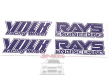 PURPLE Rays Volk racing Wheel Stickers/decals x8,RWB/hellaflush/speed star/work