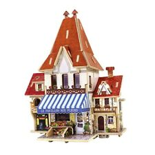 1/24 DIY Miniature Kits 3D Dollhouse with Furniture French Flower Shop Model