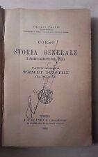 OTTOCENTINA CORSO DI STORIA GENERALE ITALIA TEMPI NOSTRI 1894 FABRIS