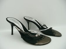 Giuseppe Zanotti Design Black Jewel Embellished Snake Thong Sandals  Sz 37 / 7