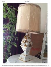 Vintage Italian Benrose Lamp - Capo di Monte Style - One of a Set of Two