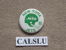 "VINTAGE 1970's - 1980's NEW YORK N.Y. NY JETS 3 1/2"" ☆HELMET☆ PIN BACK BUTTON"