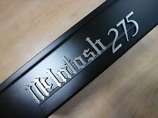 McIntosh MC275 275 emblem badge logo Black+Brushed finish – new reproduction