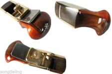 "Woodworking tools Convex bottom brass wrap blackwood planes 2 3/8"" #8667"