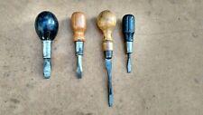4 vintage wooden handle screwdrivers Cabinet Maker Gunsmith